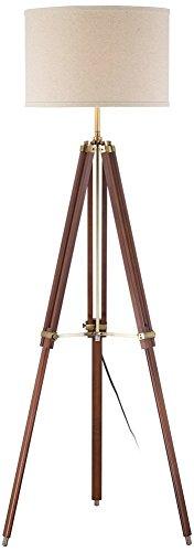 Cherry Finish Wood Surveyor Tripod Floor Lamp (Lamp Shade is not Included)