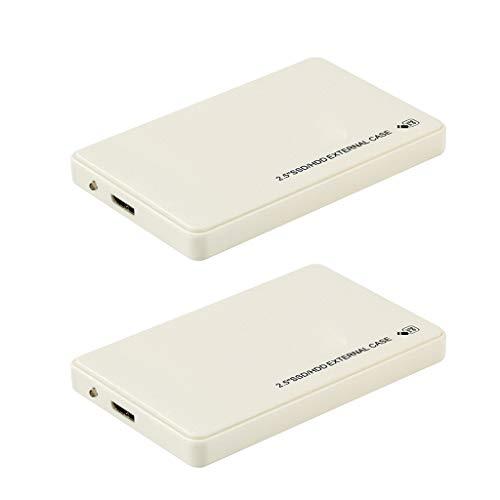 perfk 2X 1 TB Portátil Disco Duro Externo, Unidad de Estado Sólido, USB3.0 Almacenamiento para PC, a Prueba de Golpes de Grado Militar