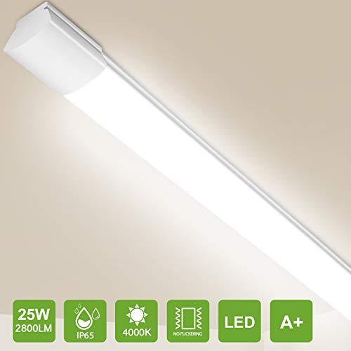 Feuchtraumleuchte LED Deckenlampe 150CM, 36W 3600Lm Oeegoo IP65 LED Leuchtstoffröhre, Als Bürodeckenleuchten LED Garage Lampe Kellerleuchte Feuchtraumlampe Werkstattlampe, Neutralweiß 4000K
