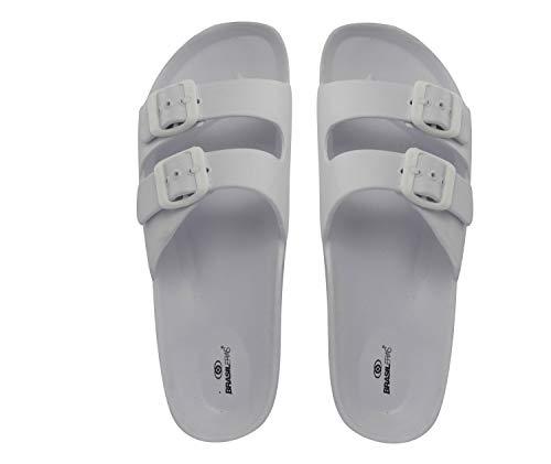Chanclas de Playa BRASILERAS®,Dr. Comfy 200. Suela Antideslizante del 36 al 41. Mujer para Interior/Exterior. Zapatos de Piscina Verano