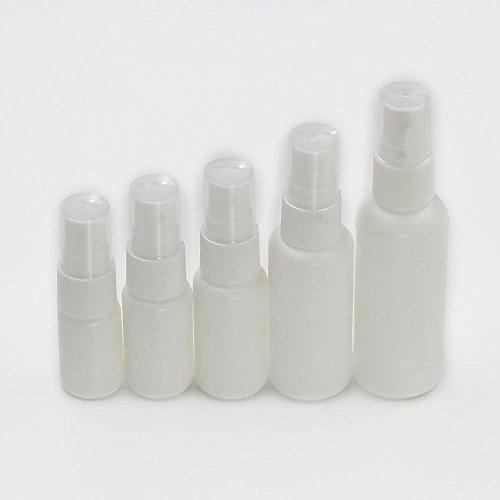 20 Stück leere Flaschen 50 ml Nasenspray mit Pumpsprüher Kunststoff weiß