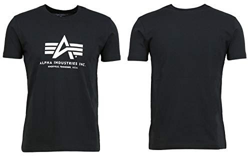 Alpha Industries Herren Basic T-Shirt, Schwarz, X-Large