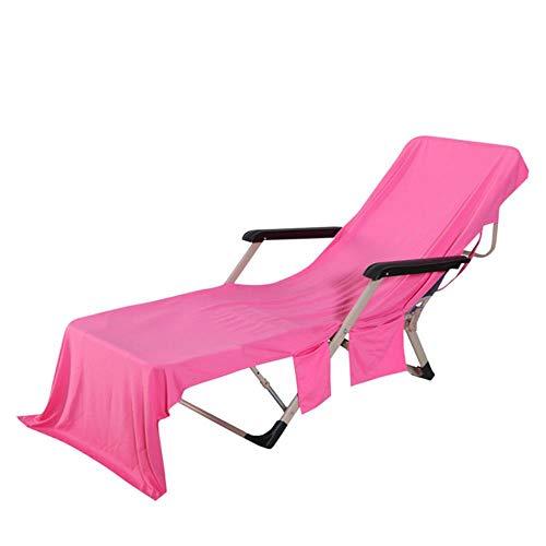 Huien badhanddoeken voor volwassenen stoel strandlaken strandstoel hoes stevige hoes voor zwembad ligstoel zwemhanddoeken badhanddoek, roze