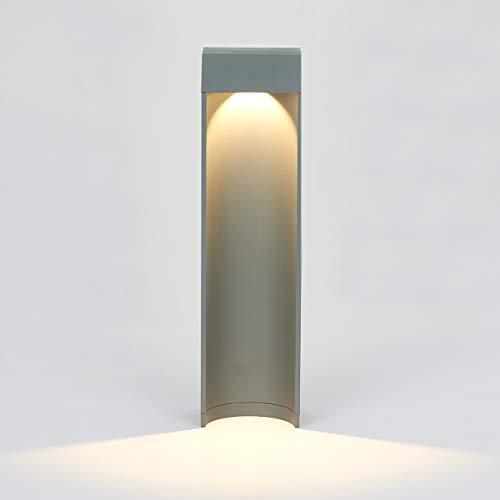 Topmo-plus lampione da patio/Lampioncino da Esterno Strade/lampade da giardino sentieri Alluminio / 10W LED bridgelux COB/Lampione da patio/aiuole/sentieri IP65 grigio 3000K 1100LM 15,75 inch