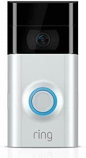 Ring 8VR1S7-0EN0 V2 Advanced Security Wi-Fi Video Doorbell - Quantity 2