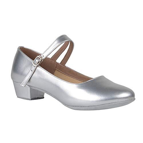 Daytwork Latino Tango Carácter Danza Zapatos Niña - Mujer Cuero Hebilla Zapatos Sandalias Alto Tacón Calzado Mary Jane Salón Salsa Baile Bailarina Performance