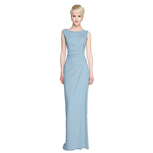 kekafu Princess V-Neck Tee Länge Spitze Tüll Formale Abendkleid mit Blume (s) Pearl Details von TS, Himmelblau, US 10 / UK 14 / EU 40