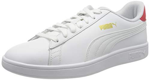 PUMA Unisex 365215 Sneaker, White High Risk Red Team Gold, 36 EU