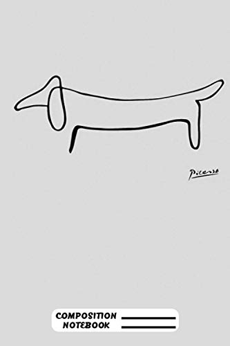 Pablo Picasso Dachshund Dog Lump Artwork Animals Line Sketch Prints Posters Bags Tshirts Men Women Kids Notebook: (110 Pages, Lined, 6 x 9)