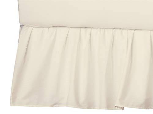 American Baby Company 100% Natural Cotton Percale Portable Mini Crib Skirt, Ecru, Soft Breathable, for Boys and Girls (161-Ecru)
