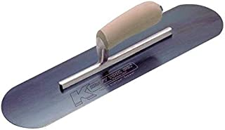 Pool Trowel, Round, 4 x 14 in, Blue Steel