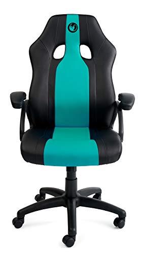 Nacon CH200 - Silla gaming profesional con diseño ergonómico y altura regulable, Negro y azul