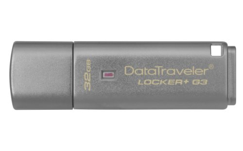 Kingston Data Traveler Locker + G3 (DTLPG3/32GB) USB 3.0 Schutz persönlicher Daten und automatisches Cloud-Backup