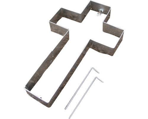 Gartenwelt Riegelsberger Grille en croix - 40 x 24 x 4 cm - Sans gravier - Décoration funéraire