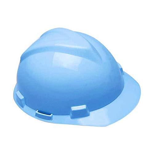Capacete MSA Aba Frontal V-GARD Com Suspensão Carneira Simples CA 498 (Azul Pastel)