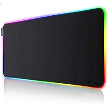 RGB Gaming Mauspad 800 x 300 x 4mm Mauspad mit 7 LED Farben 14 Beleuchtungs-Modi Wasserdichter Mouse Mat Anti Rutsch Matte f/ür Computer PC Gamer