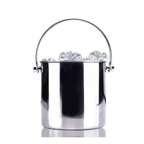 ECSWP JBJTBT Acero Inoxidable Doble asa de Alambre de Hielo Capa Doble Cubo con congelador práctico Hotel Bar Champagne Cubo de Hielo Cubo de Grano (Size : 15.7 * 16cm)
