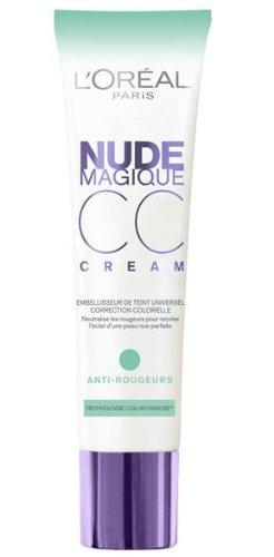 Loreal Paris Nude Magique CC Cream Hautton-Korrigierer Anti-Rötungen Inhalt: 30ml Neutralisiert Rötungen - für eine natürlich makellose Haut, wie ungeschminkt mit Hautton anpassende Pigmente. Foundation Make-Up