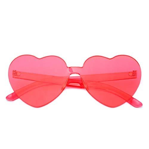 LYAKK Gafas de sol con forma de corazón, gafas de sol de amor, protección UV