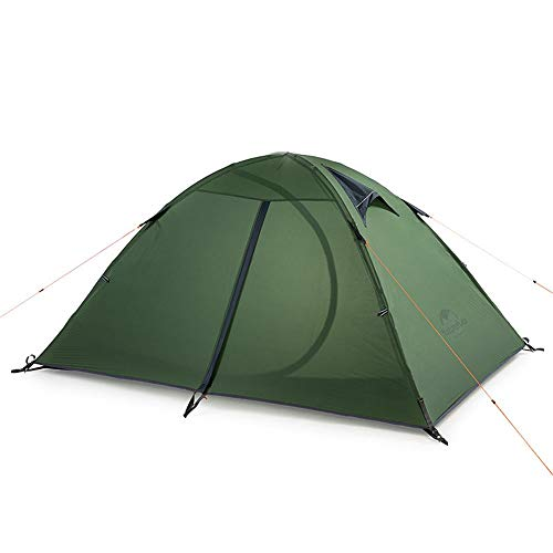 Equipo al Aire Libre 2 personas Ultra Light 4 Temporada Mochila Tienda 20D Tienda de silicona Adecuado para camping Senderismo y Bolsa de asas Carpa Gruesa ( Color : Verde , Size : 205x180x110cm )