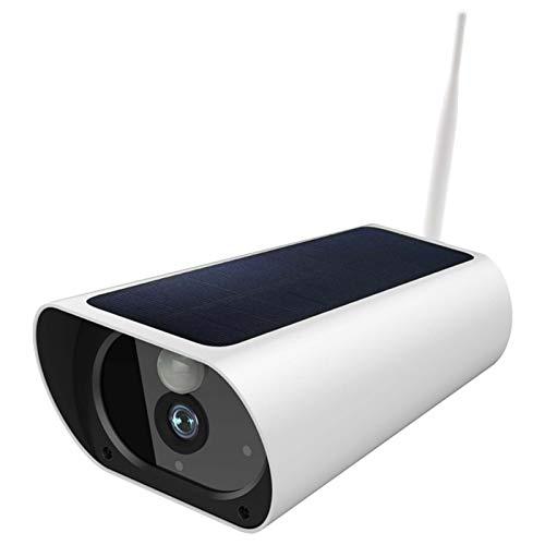 HYF Cámara de vigilancia Solar, cámara de vigilancia HD inalámbrica de Dos vías 1080p, cámara de vigilancia Inteligente con función de la visión Nocturna (Color : WiFi WiFi+Battery)