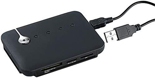 c-enter SIM Kartenleser: Multi-Card- und SIM-Reader mit aktivem USB-2.0-Hub, 3 Ports (SIM Kartenleser USB)