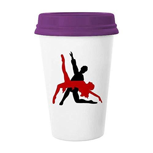 Art Duet Danza Social Dancing Taza de café de cerámica Taza de cerámica de regalo