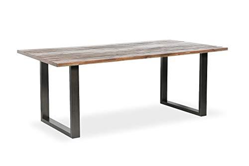 riess-ambiente.de Industrial Esstisch WOTAN 160cm Akazie braun verwittert mit Kufengestell Esszimmertisch Konferenztisch Tisch