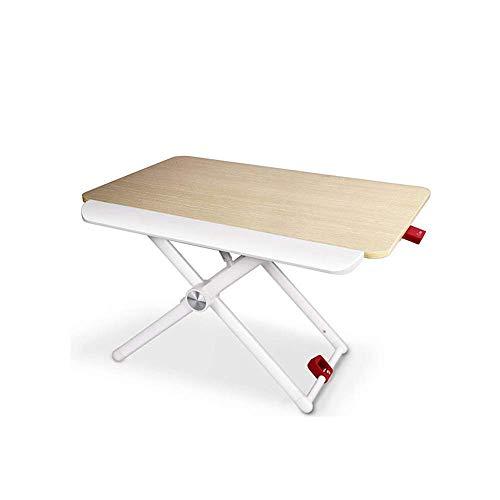 Home&Selected Laptoptafel, verstelbaar bedtafel voor laptop, kantoor, permanent, draagbaar, ontbijtdienblad, laptopstandaard, afleesstandaard voor kinderbed