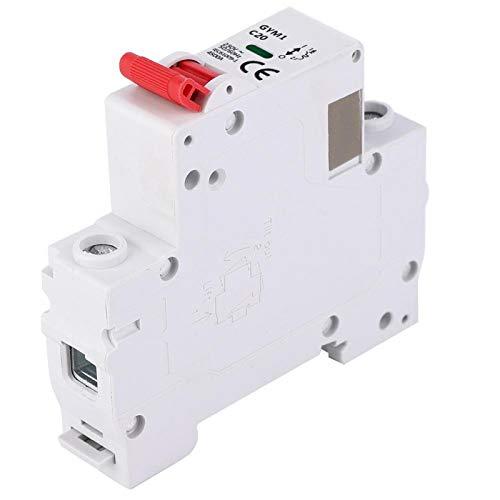 Disyuntor Miniatura de protección de circuito con función de indicador Disyuntor de aire de 50/60 Hz para aplicaciones de la industria doméstica(20A)