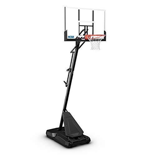 "Spalding NCAA Exactaheight 50"" Performance Acrylic Portable Basketball Hoop"