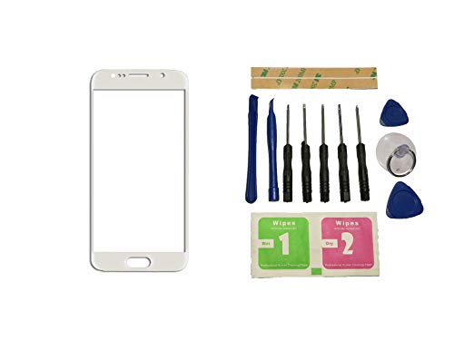 Flügel voor Samsung Galaxy S7 G930 G9300 G930F SM-G9308 Voorste buitenste glazen lens Wit (geen Digitizer Geen LCD-scherm) Reparatie Vervangend Onderdeel + Gereedschap + Kleefmiddel