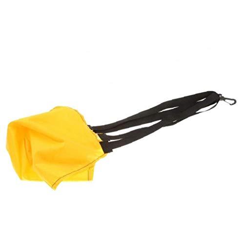 KHHGTYFYTFTY La Resistencia de natación Arrastre paracaídas Entrenamiento de natación ejercitador Universal Resistencia paracaídas Amarillo