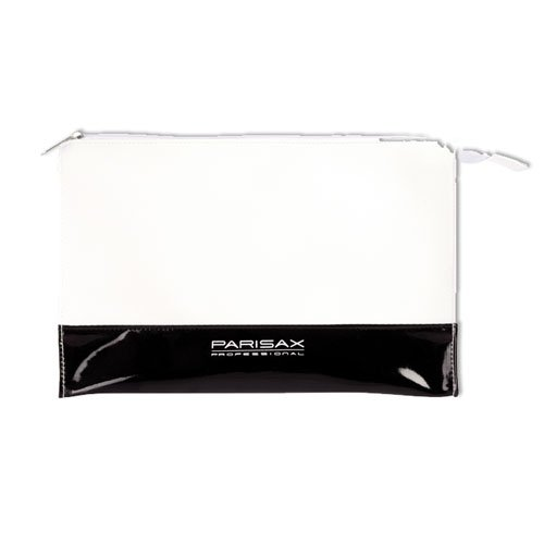 Trousse maquillage PVC Ecru et Noir