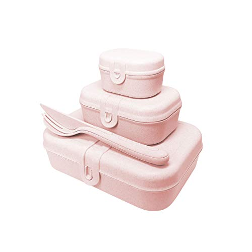 Koziol Pascal Ready Lunchbox-Set + Besteck-Set Organic Pink, 3168669