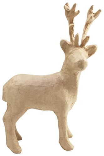 Décopatch Mache Reindeer, 7x16.5x26.5 cm - Brown