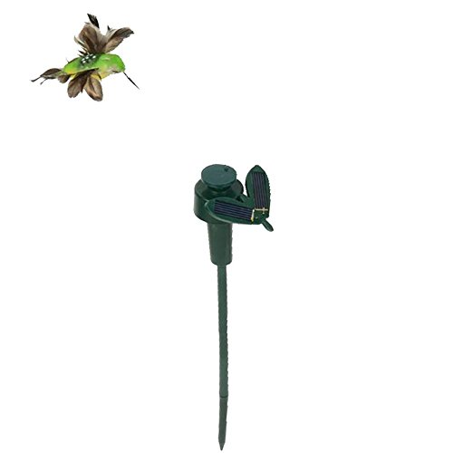 QIND Solar Powered Dancing Fluttering Hummingbird, Funny Flying Birds Solar Yard Garden Plants Flowers Stake Ornament Decor, Garden Wobbly Dancing Bird