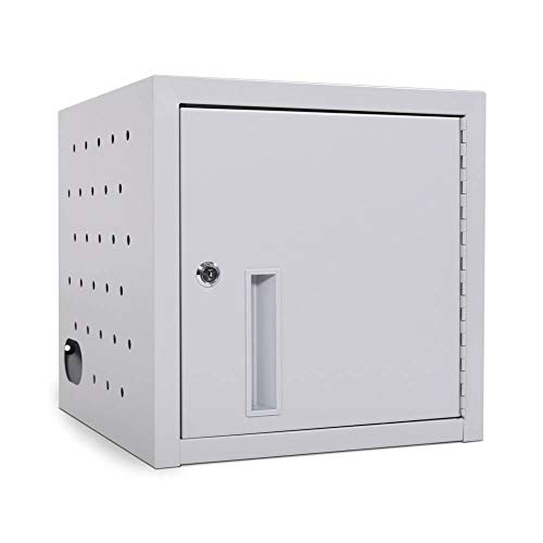 Luxor Office Clasroom Library 8 Tablet Wall / Desk Charging Station - Gray