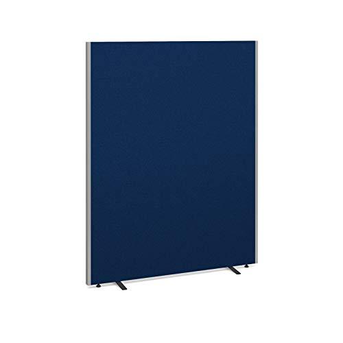 Akustische Freistehende Bürowand – Stoff Bürotrennwand – Raumteiler – Anthrazit – 1800 x 1600 x 40 mm   Büromöbel (blau, 1800 x 1400 x 40 mm)