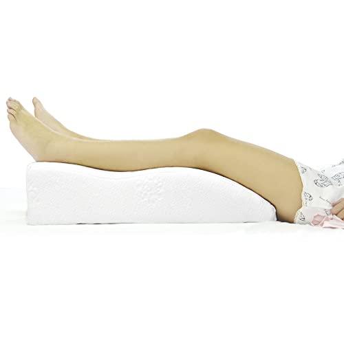 Almohada para Piernas Ortopédica de Espuma con Memoria y Funda Lavable para Personas con Mala Circulación Sanguínea/Retención de Líquidos en las Piernas,Cojín de Reposapiernas para Dormir Boca Arriba