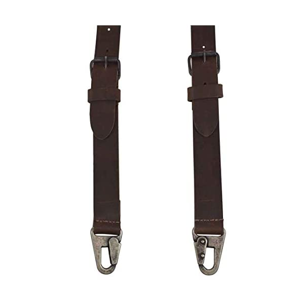 Hide & Drink, Rustic Leather Y Suspenders, Wedding & Party Essentials, Easy Fit With 8 Adjustable Holes (Large 5 ft 10 in. to 6 ft 4 in.), Handmade Includes 101 Year Warranty :: Bourbon Brown