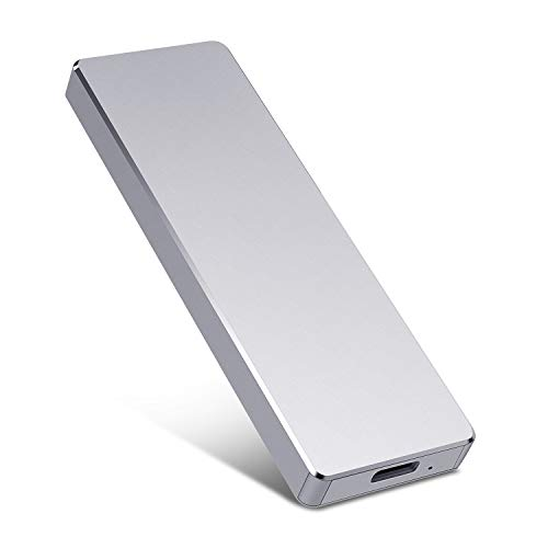 Portable External Hard Drive - External 1TB 2TB Hard Drive Super Fast External Hard Drive for Mac, Laptop, PC - Silver,2TB