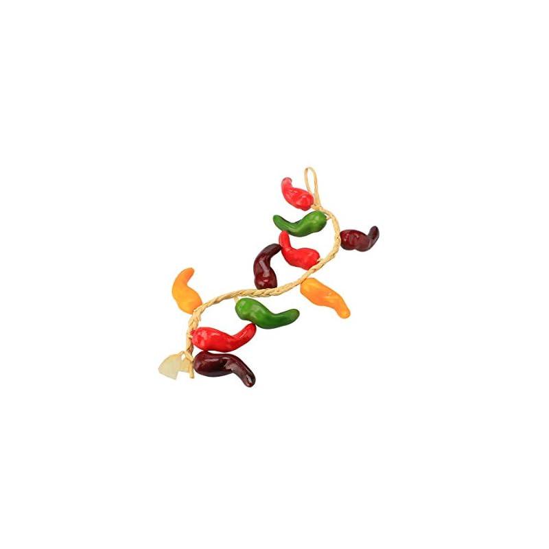 silk flower arrangements uxcell artificial fake hanging pepper garland vine multi-color