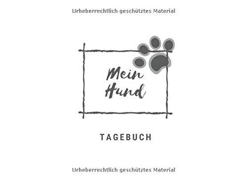 ❤ Süßes Tagebuch/Notizbuch für Hunde. 100 Seiten Punktraster für Notizen und Tagebuch Einträge ❤: Cover ist glänzend mit Hunde Design, in der Größe von 20,96 x 15,24 cm ❤