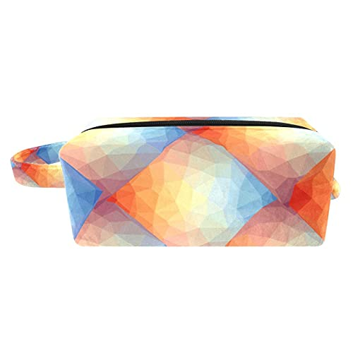 Bolsa de maquillaje para mujer, bolsa de aseo portátil, bolsa de cosméticos, organizador de viaje lindo bulldog francés con gafas de sol de corazón
