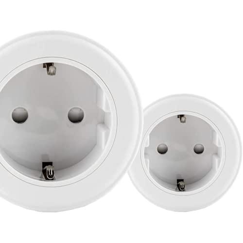 Enchufe Inteligente QNECT pack de dos - Conector EU, se conecta al wifi, compatible con Alexa y Google Home, 16 A, 3600 W