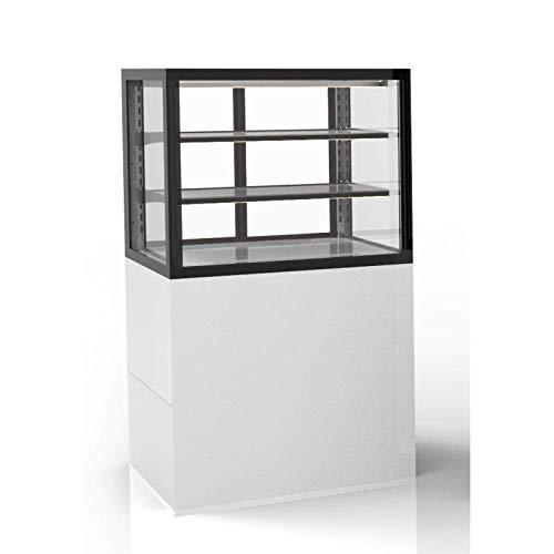 Vitrine Réfrigérée Vitrée avec Base Série Integra 2 Niveaux - 600x1100 mm - SAYL -