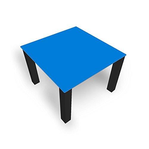 DekoGlas FMK-33-084 Table Basse en Verre Unie Bleu 45 cm Hauteur 45 cm Table avec Plateau en Verre 80 x 80 cm 100 x 100 cm 90 x 55 cm 112 x 67 cm 120 x 75 cm