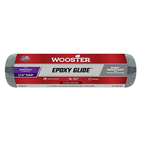 Wooster Brush R232-9 Epoxy Glide Roller Cover, 1/4-Inch Nap, 9-Inch