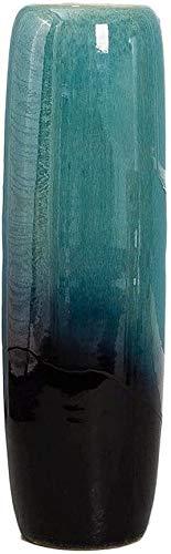 LUYIYI Plancher du Salon Creative Vase Gradient Vase en céramique Bleu Grand Porche décoration Fleurs séchées décoration d'art Moderne, Minimaliste Hauteur 60 cm